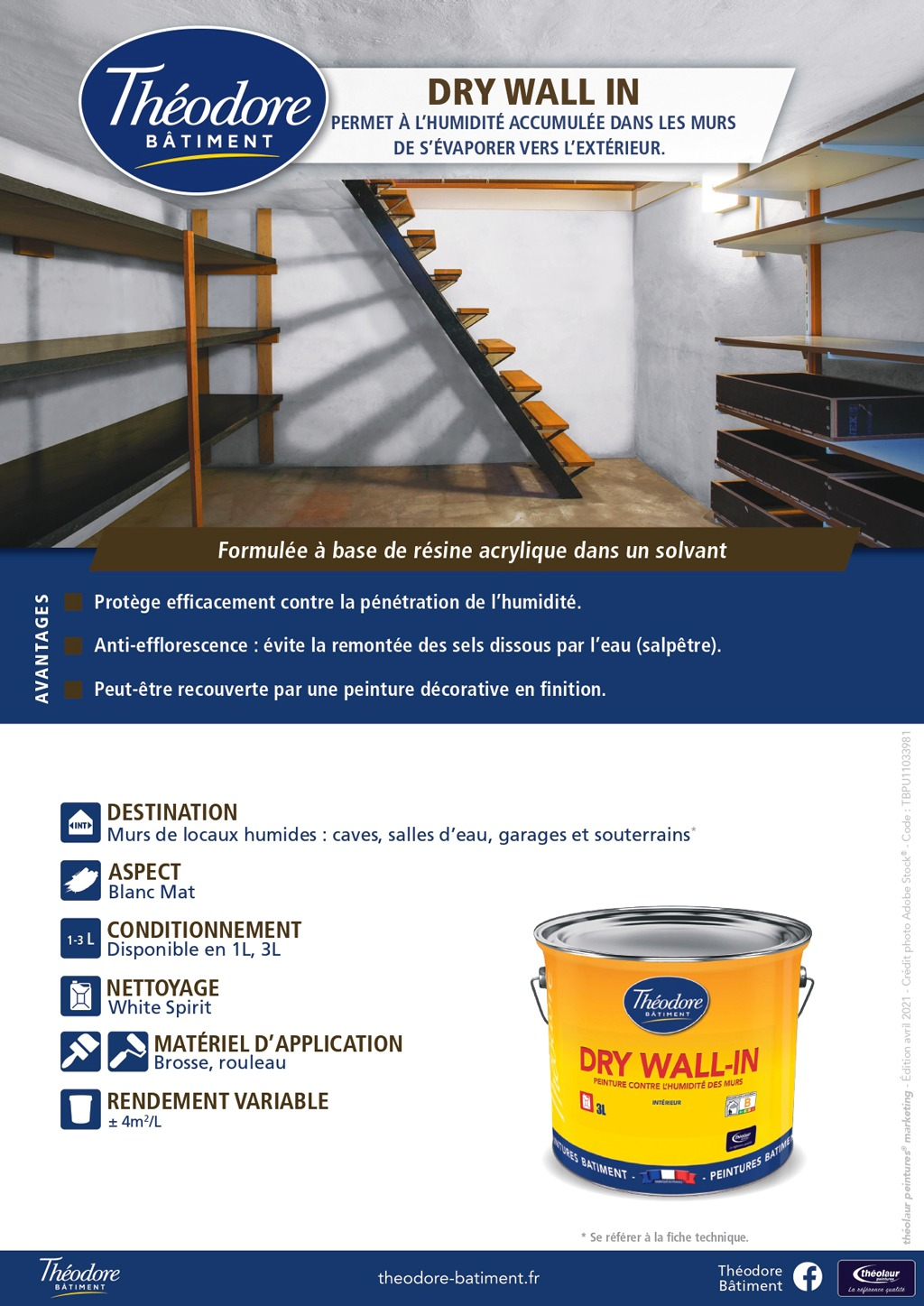 Peinture anti humidité Dry Wall In Théodore Bâtiment